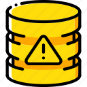 alert, data, database, security, secure icon