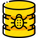 data, database, malware, security, secure icon