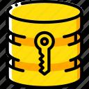 data, database, key, security, secure icon