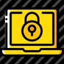 data, laptop, lock, security, secure