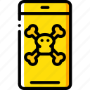 danger, data, phone, security, secure icon