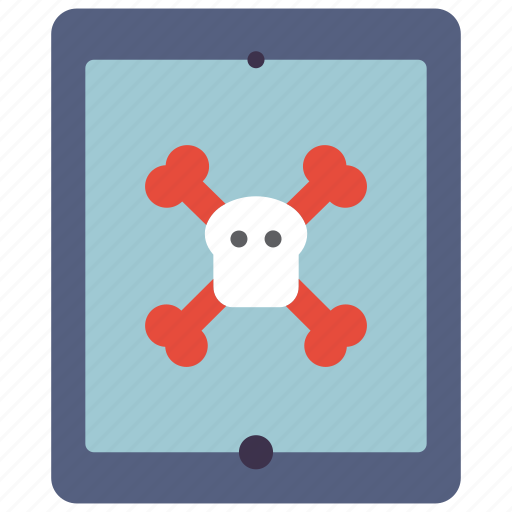 danger, data, secure, security, tablet icon