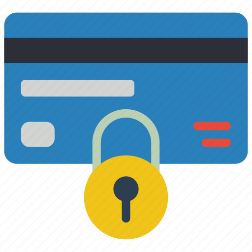 card, data, lock, secure, security icon
