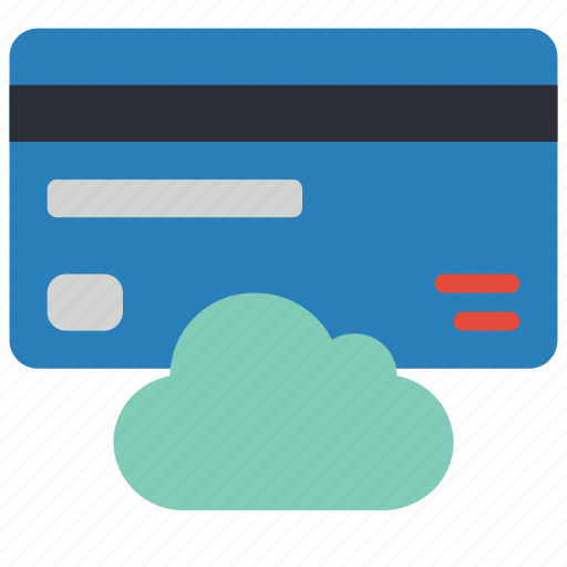 card, cloud, data, secure, security icon