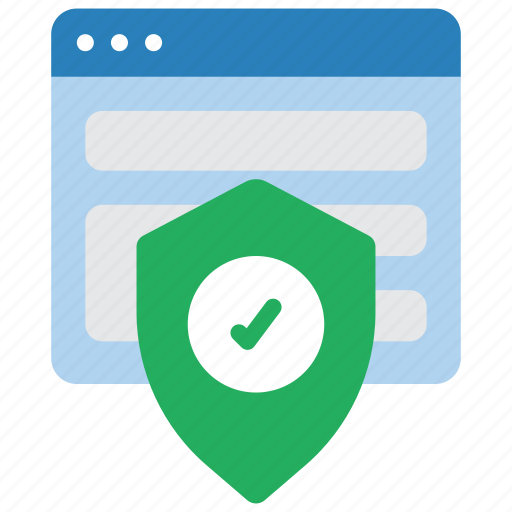 browser, data, secure, security, shield icon