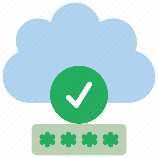 cloud, data, password, secure, security icon