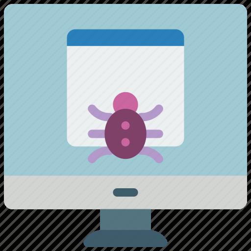data, desktop, malware, secure, security icon