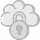 cloud, data, lock, secure, security icon
