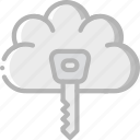 cloud, data, key, secure, security icon