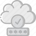 cloud, data, password, security, secure