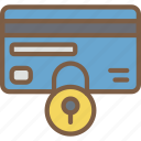 lock, security, data, card, secure icon