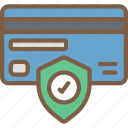 security, data, shield, card, secure icon