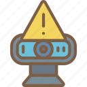 data, secure, security, warning, webcam icon