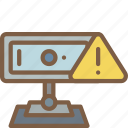 webcam, security, warning, data, secure icon