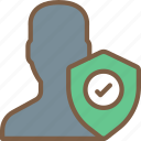 security, data, shield, user, secure icon