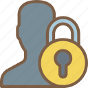 lock, security, data, user, secure icon