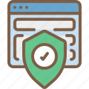 security, data, shield, browser, secure icon
