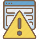 browser, data, secure, security, warning icon