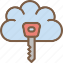 security, data, cloud, key, secure icon