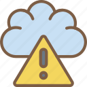 cloud, data, secure, security, warning icon