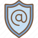 mail, security, data, shield, secure icon