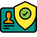 data, secure, security, shield, user icon