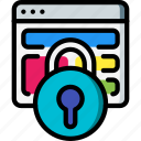browser, data, lock, secure, security icon