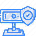 data, security, shield, webcam, secure icon