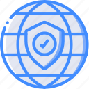 data, internet, secure, security, shield icon