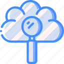 cloud, data, search, secure, security icon