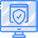 data, desktop, secure, security, shield icon