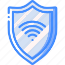 data, secure, security, shield, wifi icon