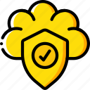 cloud, data, secure, security, shield icon