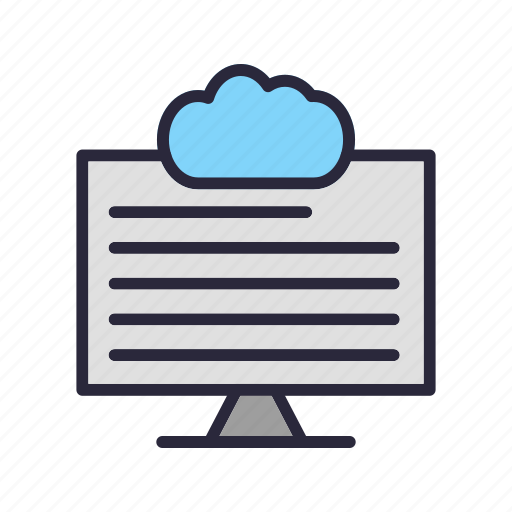 cloud, connection, forecast, network, web icon