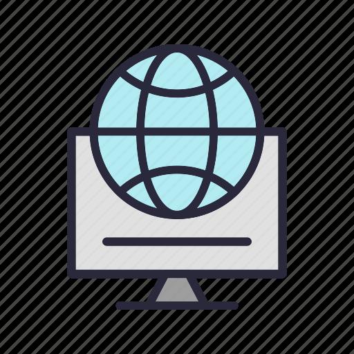 earth, global, globe, servers, world icon