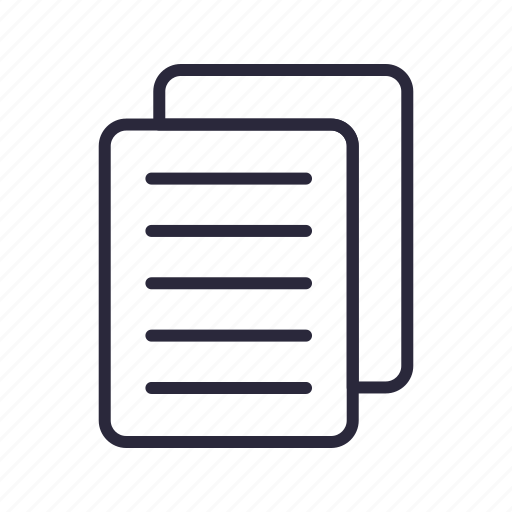 documents, files, pages, paper, sheets icon