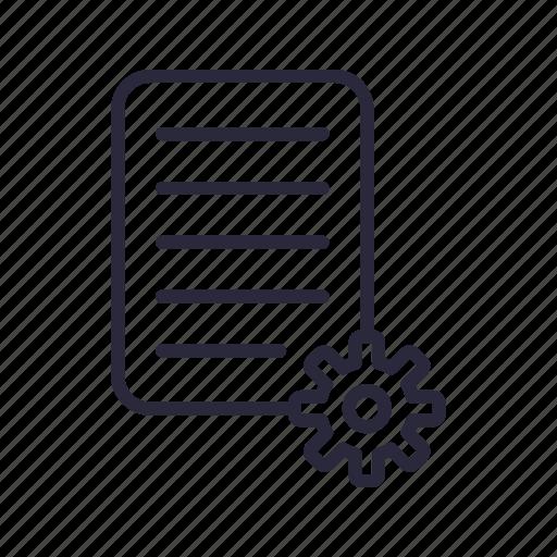 data, document, file, management, setting icon