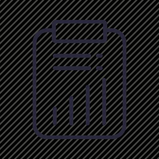 board, clip, document, file, stats icon
