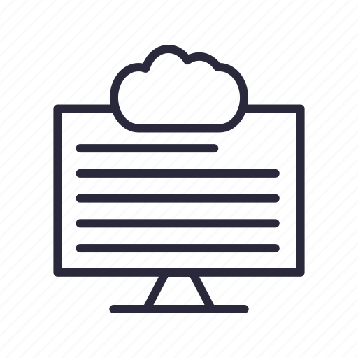 cloud, connection, data, server, weather icon