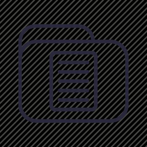document, file, folder, paper, storage icon