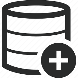 add, data, plus, storage icon