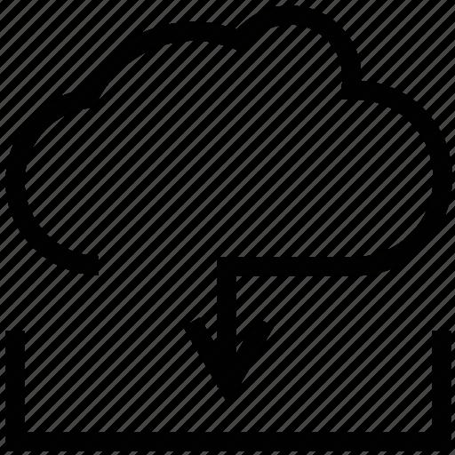 cloud data transfer, cloud download, data transfer, download, downloading, icloud downloading icon