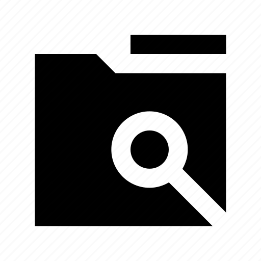 documents, find in folder, folder magnifying, magnifier, search in folder icon