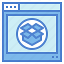 browser, dropbox, internet, storage icon