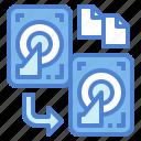 data, disk, hard, storage, transfer icon