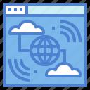 communications, internet, multimedia, world icon