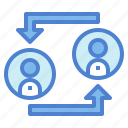 multiple, people, transfer, user, users icon