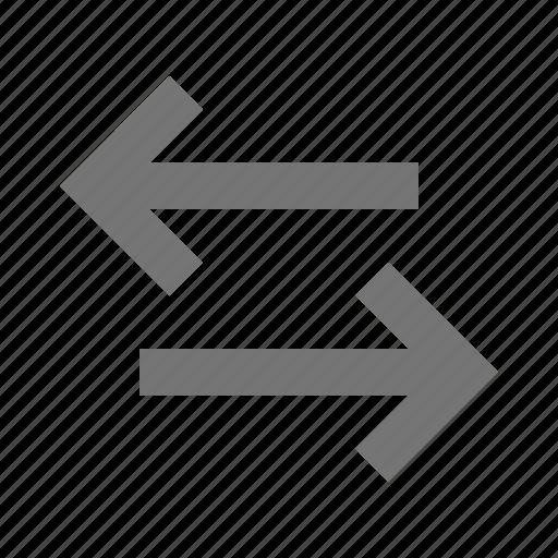 arrows, data transfer, transfer icon