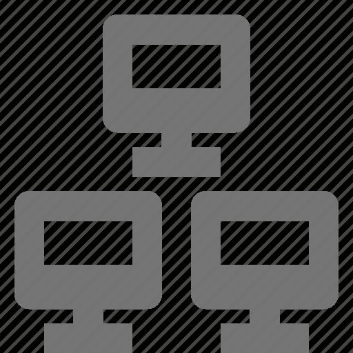 computer, network icon