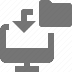 arrow, computer, data transfer, folder, transfer icon